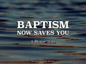 Baptism Now Saves You