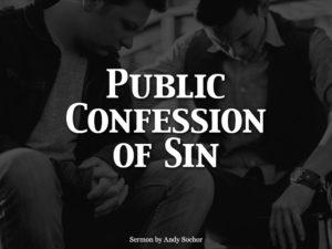 Public Confession of Sin