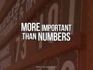 More Important Than Numbers