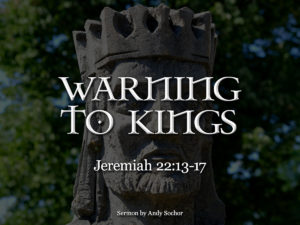 Warning to Kings