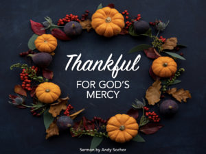 Thankful for God's Mercy