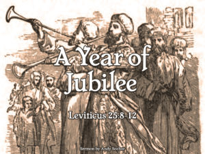 A Year of Jubilee