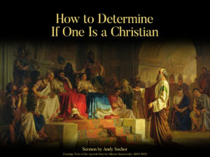 How to Determine If One Is a Christian