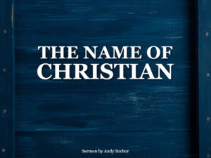 The Name of Christian