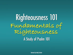 Fundamentals of Righteousness