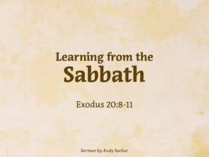 Learning from the Sabbath