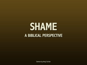 Shame: A Biblical Perspective