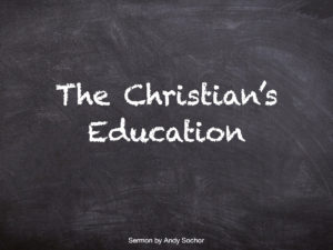 The Christian's Education