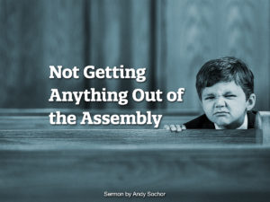 Not Getting Anything Out of the Assembly