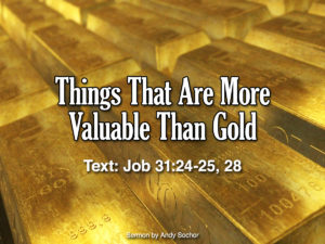 Things That Are More Valuable Than Gold