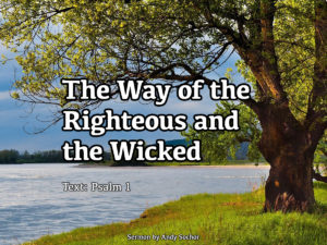 The Way of the Righteous and the Wicked