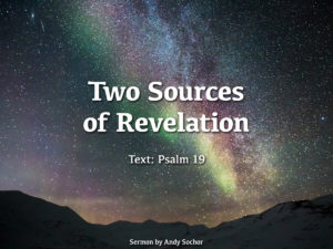 Two Sources of Revelation